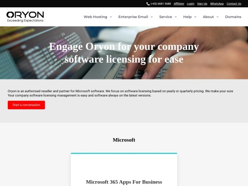 Oryon: Keep Your Company Software Licensing Easy And Always Up To Date
