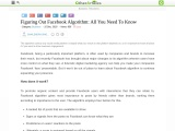 Figuring out Facebook Algorithm: All You Need to Know