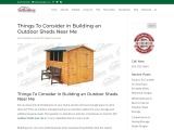 Things to consider in building an outdoor sheds near me