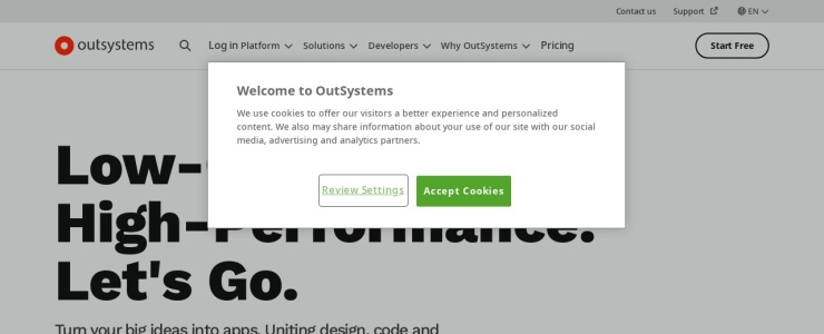 screenshot of Outsystems