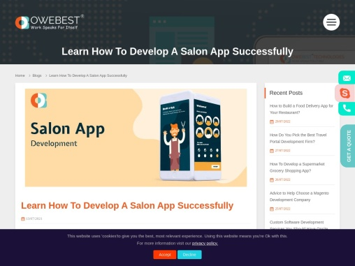 Learn How To Develop A Salon App Successfully