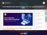 The 5 Ultimate React Native Database for Your App Development in 2021