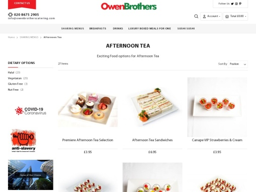 Afternoon Tea Catering Services in London – OBC