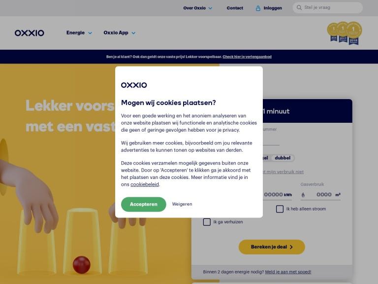 Oxxio.nl screenshot