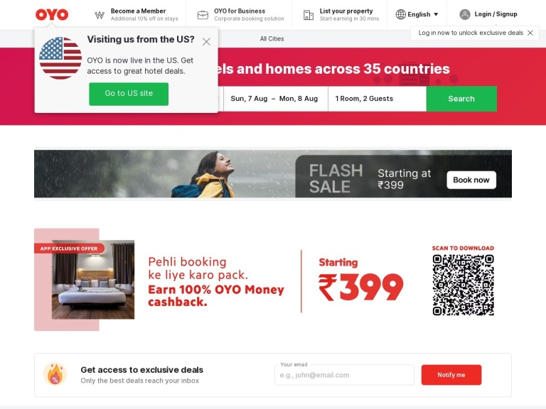 Oyoroom.com Coupons screenshot