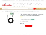 Lightning to AUX Cable Cord for iPhone, iPad & iPod | FREE Shipping