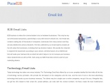 Email List for lead generation  – PaceB2B