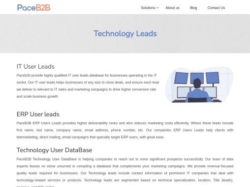 Technology User Database USA – PaceB2B