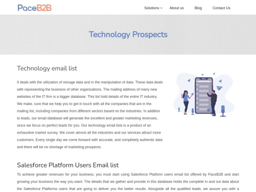 Technology Prospects Services – PaceB2B