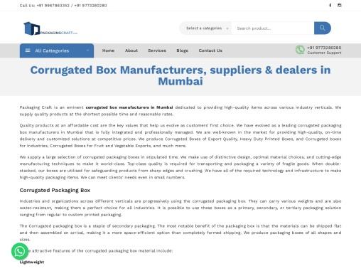 Packagingcraft – Corrugated packaging box manufacturers in Mumbai