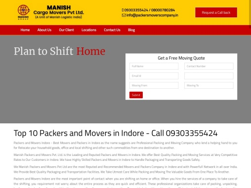 Packers and Movers Indore | Trusted Brand | Call 09303355424