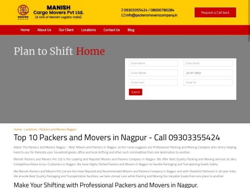 Top 10 Packers and Movers in Nagpur – Call 09303355424