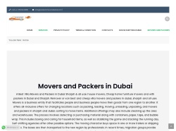 Movers and Packers in Sharjah screenshot