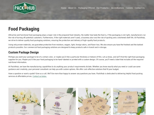 packithub packing company in dallas