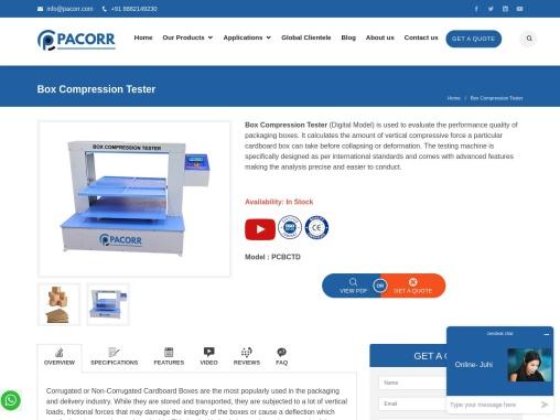Box Compression Tester Manufacturer