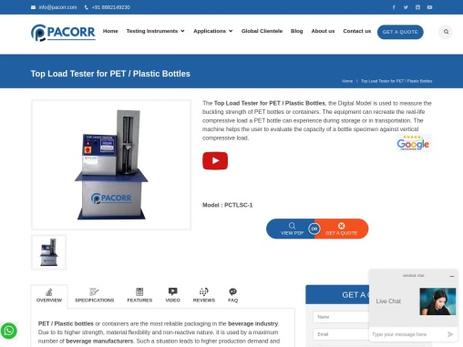 Top Load Tester  Manufacturers