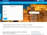 Book Jaipur To Ajmer One-Way Taxi | Hire One-Way Taxi Services