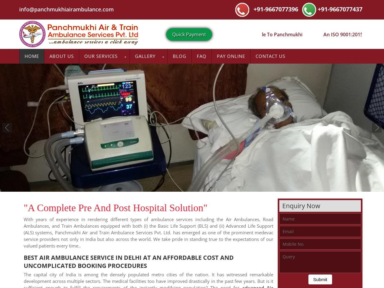 Panchmukhi Air Ambulance in Kolkata – Fast and Best Service