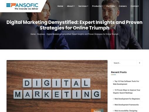 Best Digital Marketing Agency in India | Pansofic
