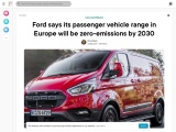 Ford commercial vans must be fully electric by 2030