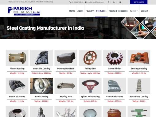 parikh Metacast- Steel Casting Manufacturers in India