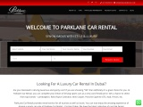 Parklane Car Rental providing luxury car hire Dubai service