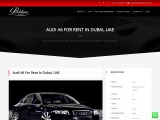 Get a deal from Parklane Car Rental for renting Audi a6 in Dubai