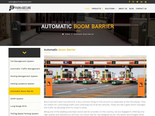 Automatic Boom Barrier   Gate Barrier   PARKnSECURE