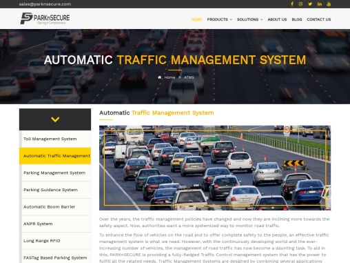 Automatic Traffic Management System   PARKnSECURE