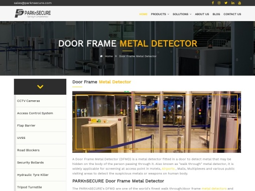 Door Frame Metal Detector   Security Systems   PARKnSECURE