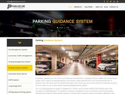 Customized Parking Guidance System & Solution   PARKnSECURE