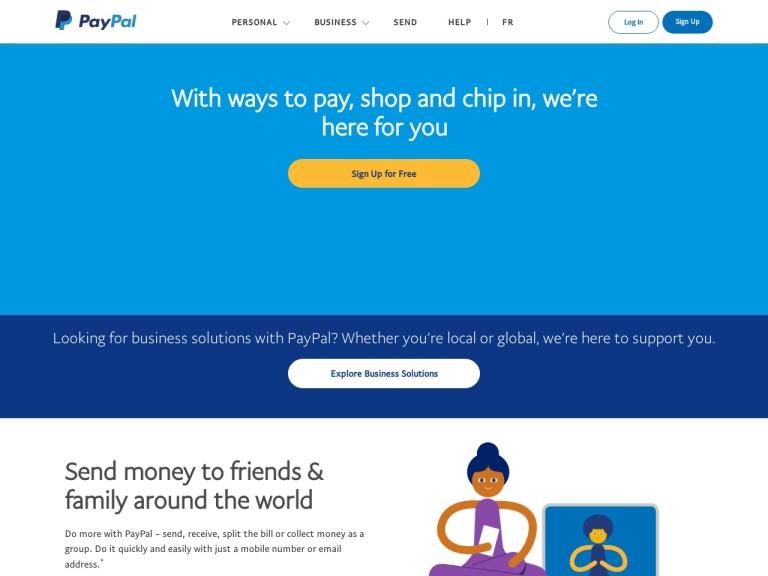 PayPal CA screenshot
