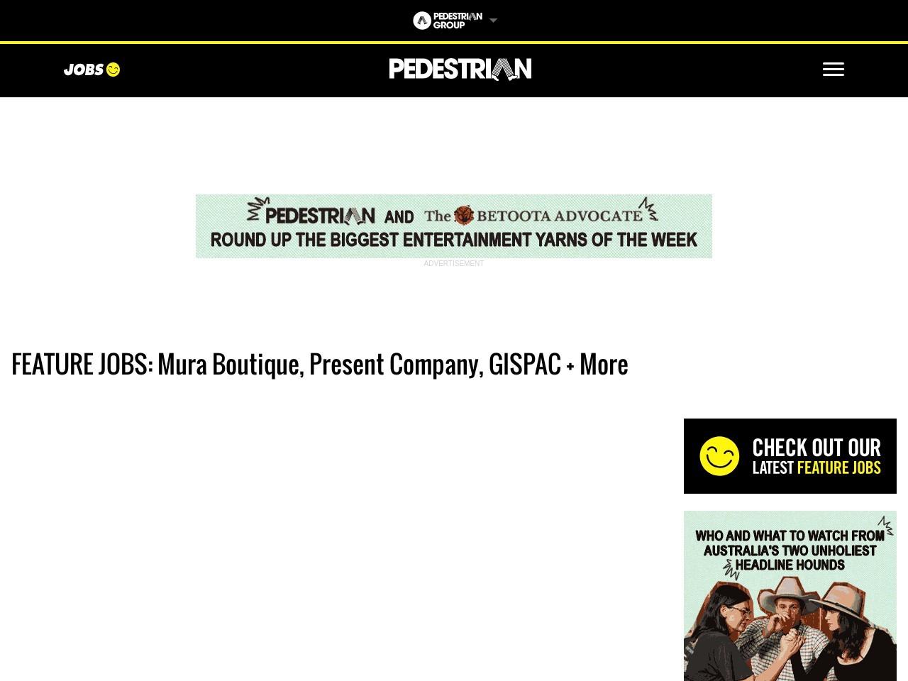 FEATURE JOBS: Mura Boutique, Present Firm, GISPAC + More