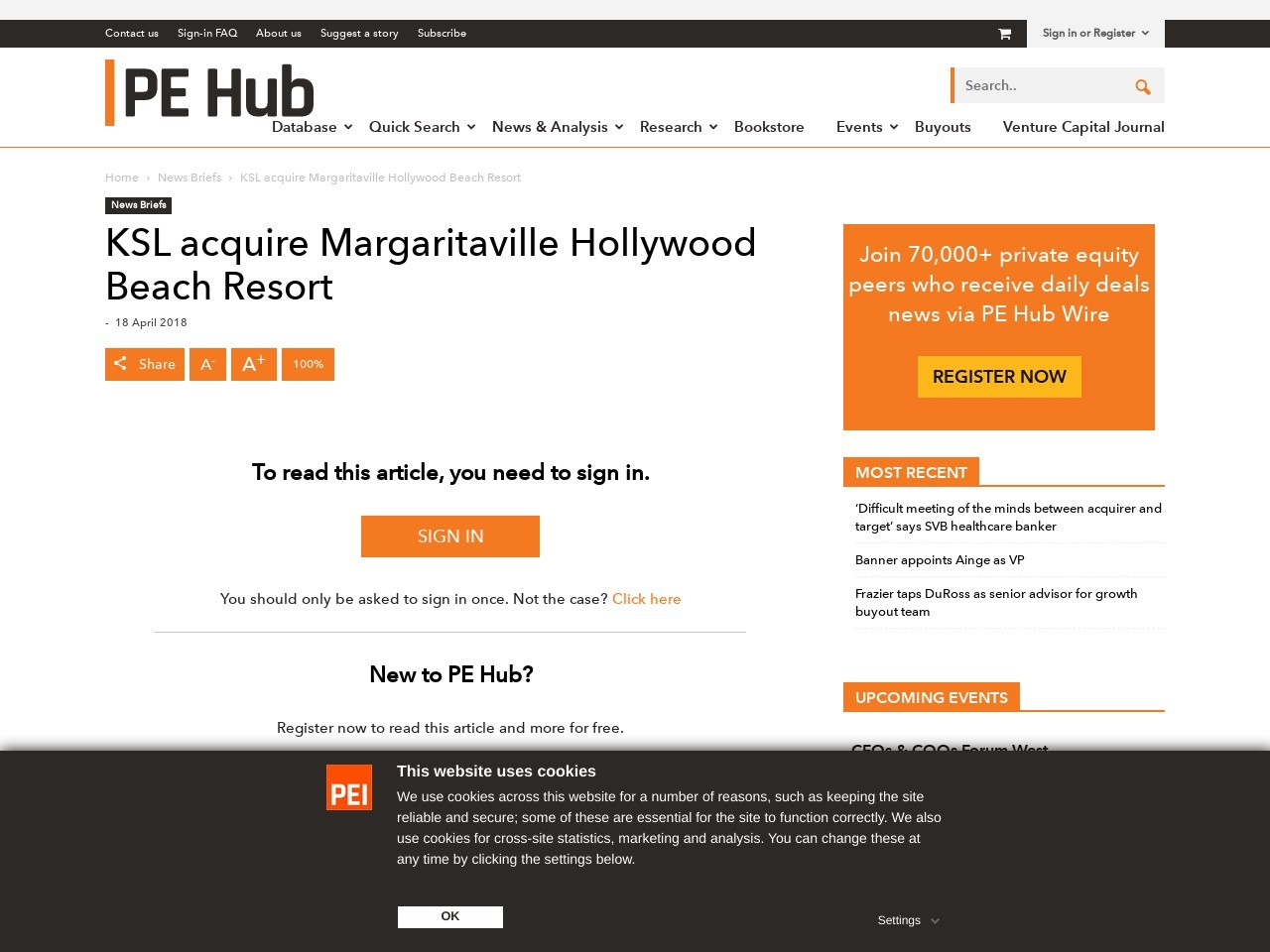 lillian wrote a new publish, KSL acquired Margaritaville Hollywood Seashore…