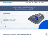 Best Cheque printing Software UAE | Bahrain | UAE | Oman
