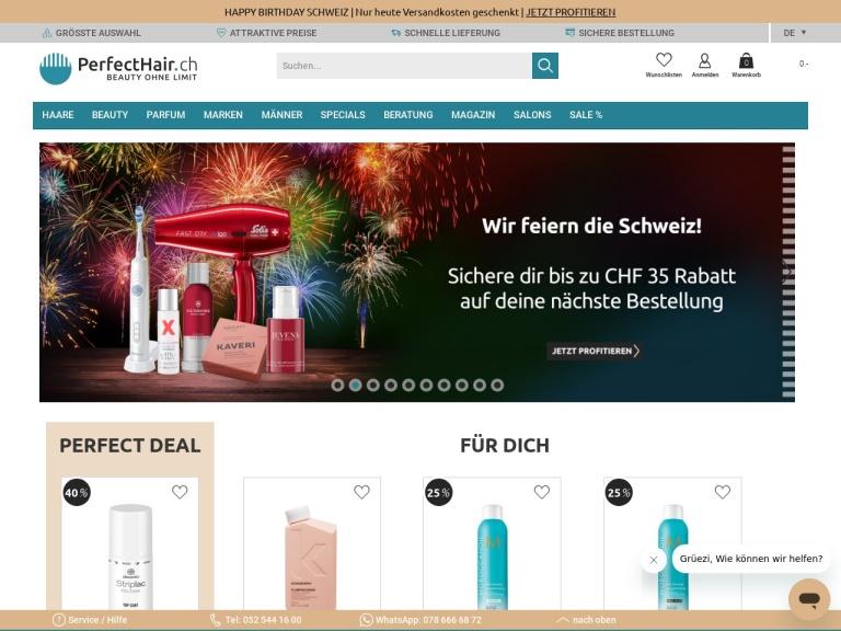 Perfecthair.ch screenshot