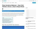 Wisata bahari Pulau Samalona yang indah dan mempesona di Makassar