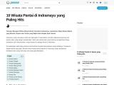 Wisata pantai yang eksotis dan menarik di Indramayu