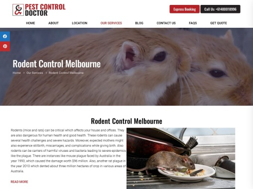 Rodent Control Melbourne – Get same day pest control services in Melbourne – Pest Control Doctor