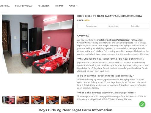 Pg Near Jagat Farm Greater Noida