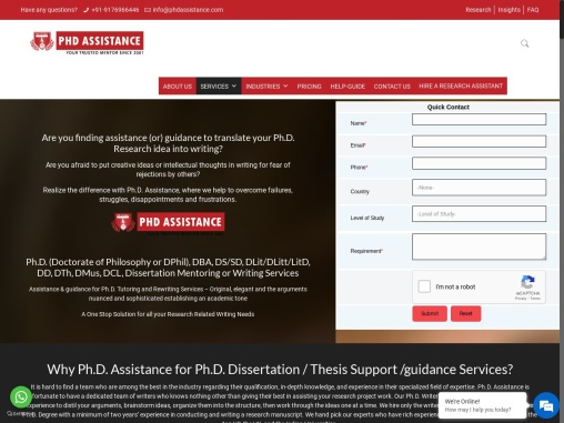 PhD Dissertation Writing Services | Thesis Writing Help | Dissertation Writing Help – Phdassistance