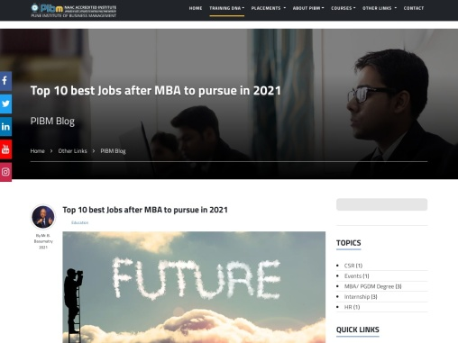 Top 10 best Jobs after MBA to pursue in 2021 | Best MBA Colleges in India