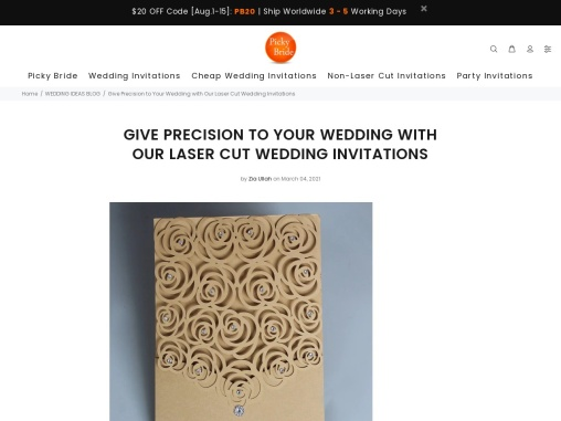 Give Precision to Your Wedding with Our Laser Cut Wedding Invitations