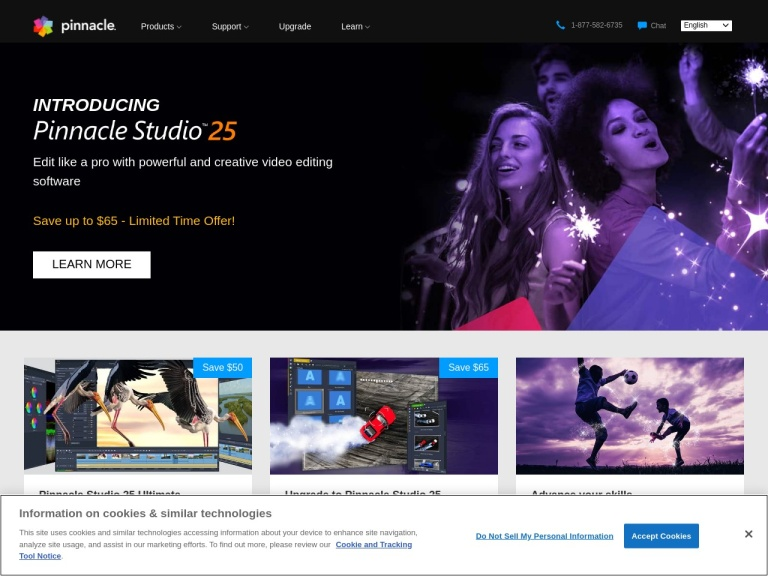 Pinnacle Studio Coupon Codes screenshot