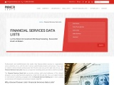 Email List of Financial Services Companies From Pioneerlists
