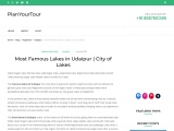 Most Famous Lakes in Udaipur | City of Lakes – Plan Your Tour – All Travel Guide