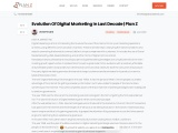 EVOLUTION OF DIGITAL MARKETING IN LAST DECADE | Plan Z