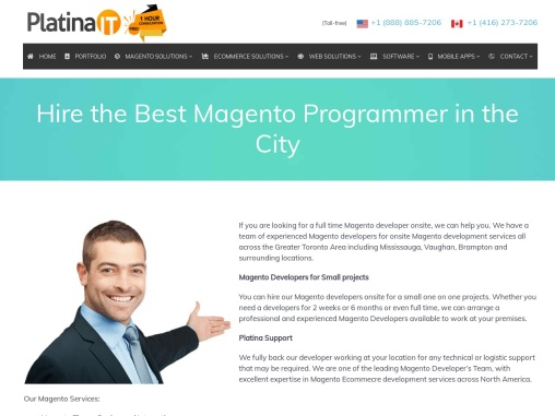 Hire Magento Developer Toronto | Platina IT