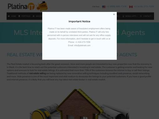 Real Estate Website Design Toronto Canada