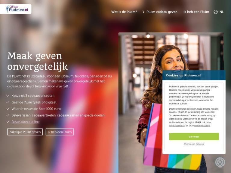 Pluimen.nl screenshot